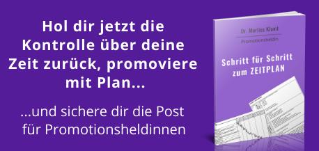 E-Book Anleitung Zeitplan Dissertation