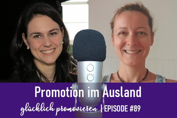 Promotion im Ausland