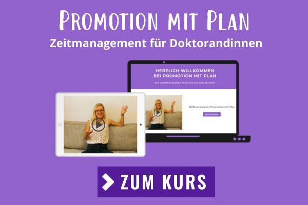 Promotion mit Plan