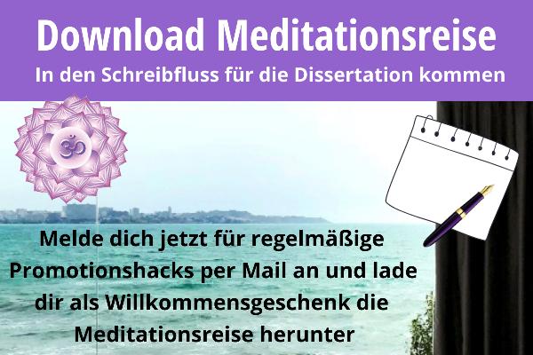 Meditation Schreibflow