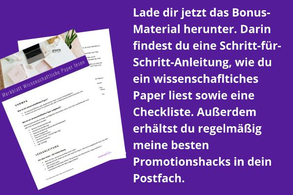 Merkblatt wissenschaftliches Paper lesen