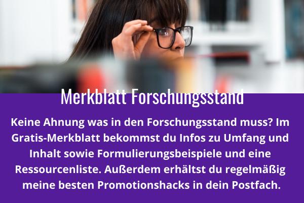 Merkblatt Forschungsblatt